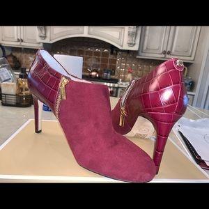 Michael kors red booties